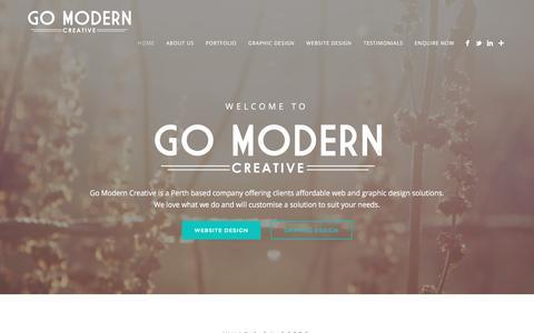 Screenshot of Home Page gomoderncreative.com - Perth Website Design � Go Modern Creative - captured Dec. 10, 2015