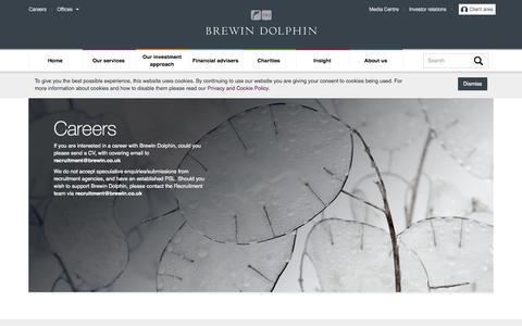 Screenshot of Jobs Page brewin.co.uk - Brewin Dolphin - Careers - captured Oct. 5, 2014