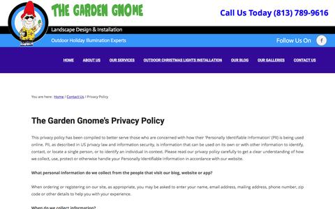 Screenshot of Privacy Page thegardengnome.net - Privacy Policy - The Garden Gnome - captured May 7, 2017