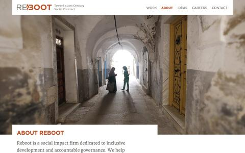 Screenshot of About Page reboot.org - Reboot |   About - captured Sept. 30, 2014
