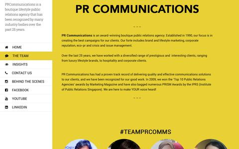 Screenshot of About Page prcomm.com.sg - about - PR Communications - captured Oct. 9, 2016