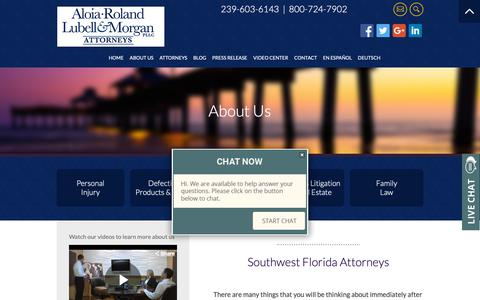 Screenshot of About Page floridalegalrights.com - Lee County Personal Injury Lawyer | Lehigh Acres, FL Family Law Attorney | Divorce Lawyer - captured Oct. 3, 2018