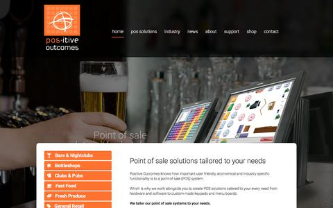 Screenshot of Home Page positive-outcomes.com.au - Point of Sale Hardware and Software solutions | Positive Outcomes - captured July 20, 2018