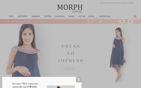 Screenshot of Home Page morphmaternity.com - Maternity Wear, Nursing & Pregnancy Clothes | Morph Maternity - captured Aug. 13, 2016