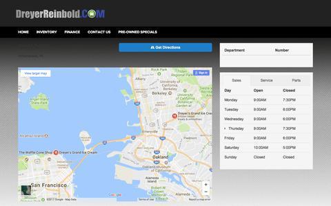 Screenshot of Hours Page dreyerreinbold.com captured Oct. 13, 2017