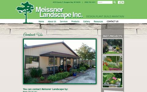 Screenshot of Contact Page meissnerlandscape.com - Contact Us - Meissner Landscape, Inc.Meissner Landscape, Inc. - captured Oct. 17, 2018