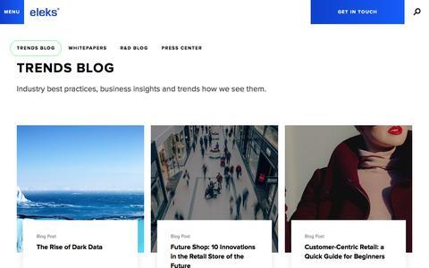 Screenshot of Blog eleks.com - Trends Blog | Business Insights, Software Engineering News - captured Oct. 9, 2017