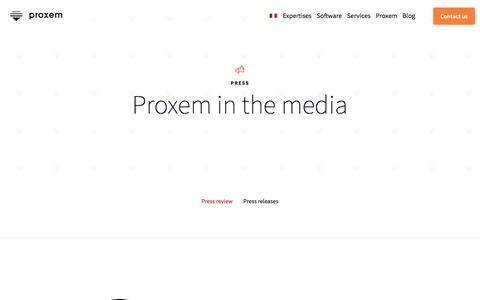 Screenshot of Press Page proxem.com - Proxem in the media   Press Releases and Press Contact - captured July 7, 2018