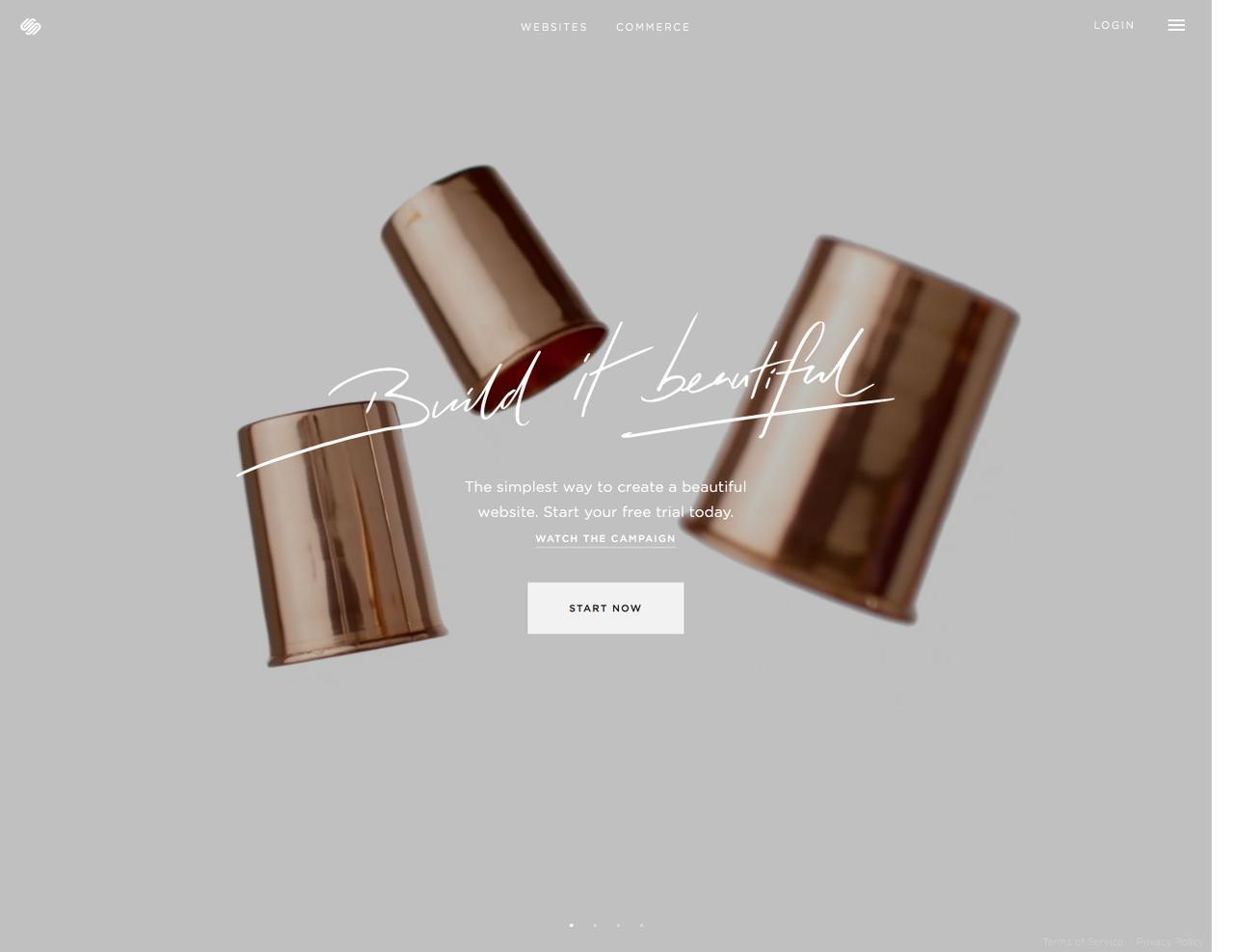 Screenshot of squarespace.com - Build a Website - Squarespace - captured Dec. 30, 2015