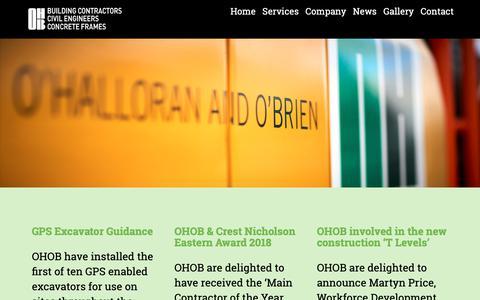 Screenshot of Press Page ohob.com - Our Latest News - O'Halloran and O'Brien - captured Oct. 18, 2018
