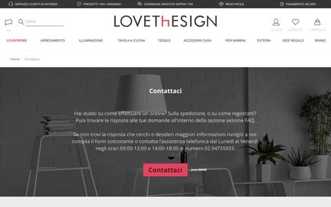 Screenshot of Contact Page lovethesign.com - Contattaci | LOVEThESIGN - captured March 24, 2017