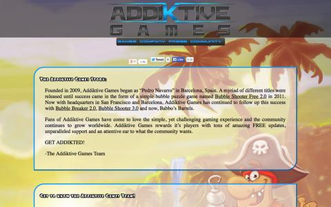 Screenshot of About Page Team Page addiktivegames.net - Fun and Free Mobile Games for your iOS device | Addiktive Games - captured Sept. 30, 2014