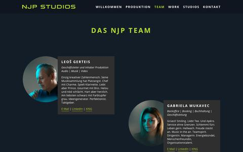 Screenshot of Team Page njp.ch - Das NJP Team — NJP STUDIOS AG - captured Nov. 17, 2018