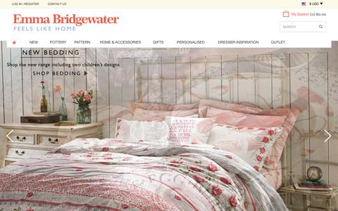 Screenshot of Home Page emmabridgewater.co.uk - Home at Emma Bridgewater - captured Sept. 23, 2014