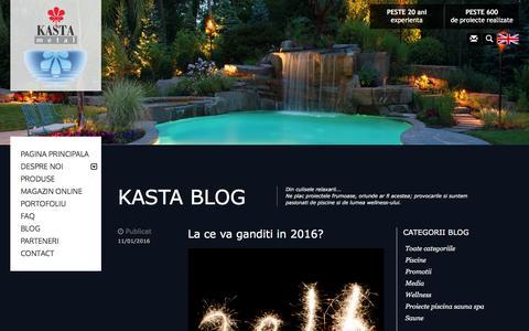 Screenshot of Blog kasta.com - Piscine Kasta Metal - Blog - captured Feb. 12, 2016