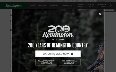 Screenshot of About Page remington.com - About Us | Remington - captured Nov. 30, 2016