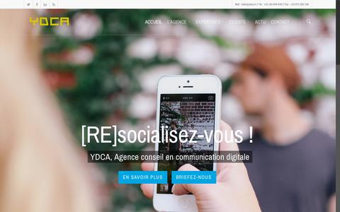 Screenshot of Home Page ydca.fr - YDCA // Agence de communication digitale - captured Sept. 12, 2015