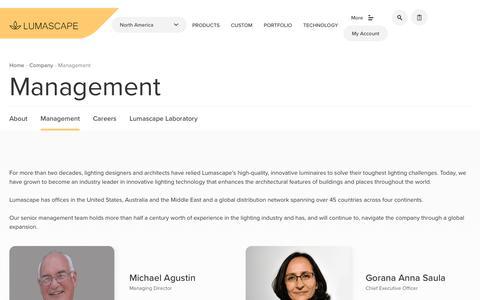 Screenshot of Team Page lumascape.com - Our Management Team | Lumascape - captured Sept. 30, 2018
