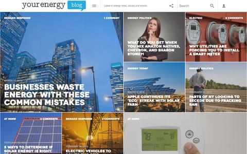 Screenshot of Home Page yourenergyblog.com - Home - Your Energy Blog - captured Sept. 12, 2015