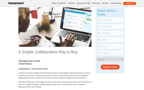 Live eProcurement demo – Tradeshift Buy