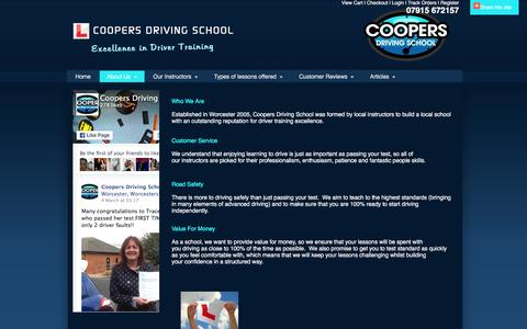 Screenshot of About Page coopers-driving-school.com - About Us | Driving Lessons and Intensive Courses | Coopers Driving School - captured March 11, 2016