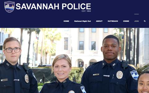 Screenshot of Signup Page savannahpd.org - STEP FORWARD – JOIN SPD – SAVANNAH POLICE - captured Oct. 25, 2018