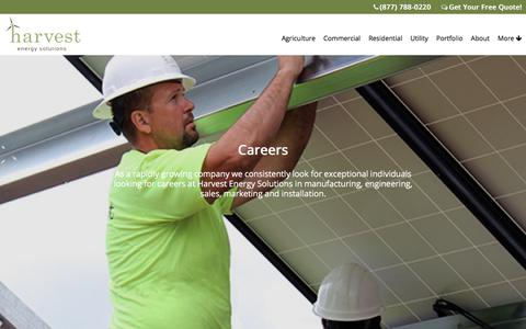 Screenshot of Jobs Page harvestenergysolutions.com - Careers | Harvest Energy Solutions - captured July 16, 2018