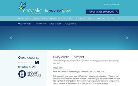 Screenshot of Case Studies Page chrysaliscourses.co.uk - Case Study | Chrysalis Courses - captured May 17, 2017