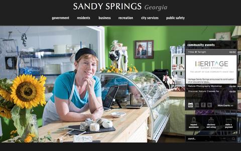 Screenshot of Home Page sandyspringsga.gov - Sandy Springs, GA : Home - captured May 2, 2017