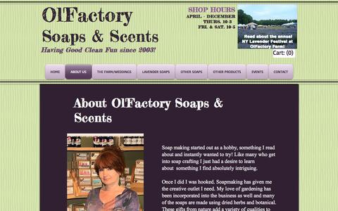 Screenshot of About Page olfactorysoaps.com - Olfactory Soaps & Scents  | ABOUT US - captured June 30, 2018