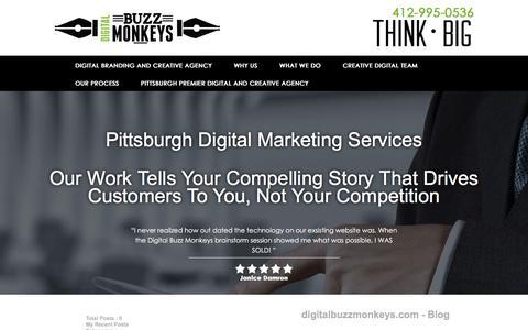 Screenshot of Blog digitalbuzzmonkeys.com - Digital Marketing Seo Agency - digitalbuzzmonkeys.com - captured April 19, 2016