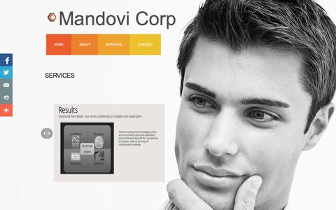 Screenshot of Services Page mandovi.us - Services - captured Oct. 4, 2014