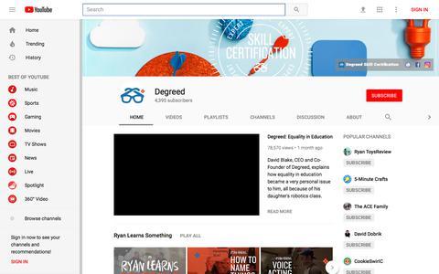 Degreed - YouTube - YouTube