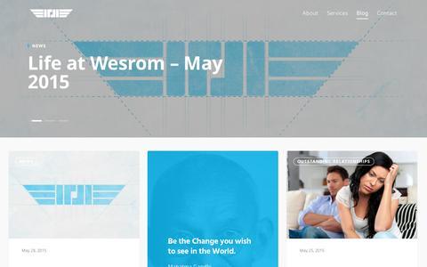 Screenshot of Blog wesrom.com - Wesrom   Blog - captured Nov. 29, 2016