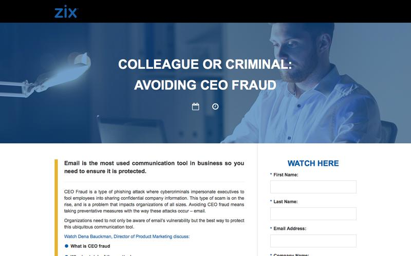 Webinar | Avoiding a CEO Fraud