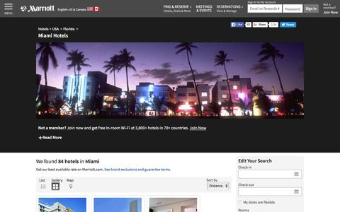 Find Miami Hotels by Marriott