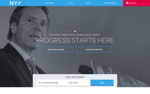 Screenshot of Home Page nydems.org - Home | New York State Democratic Committee - captured Oct. 7, 2014