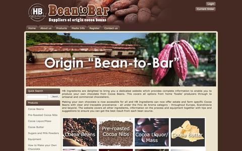 Screenshot of Home Page bean-to-bar.co.uk - Bean to Bar - Bean to Bar. - captured Jan. 26, 2015