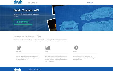 Screenshot of Developers Page dash.by - Dash API - captured June 24, 2017