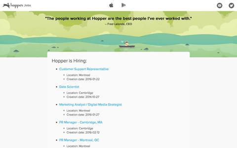 Jobs at Hopper