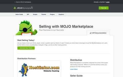 Screenshot of Products Page mojomarketplace.com - Seller Center - captured July 15, 2015