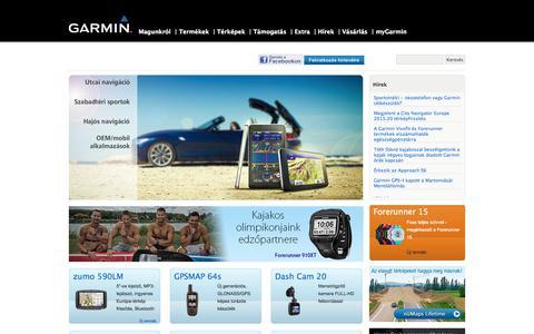 Screenshot of Home Page garmin.hu - Navi-Gate Kft. - captured Sept. 24, 2014
