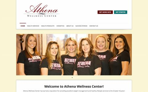 Screenshot of Products Page athenawellnesscenter.com - Athena Wellness Center | Medical Weight Loss Houston - captured Sept. 30, 2014