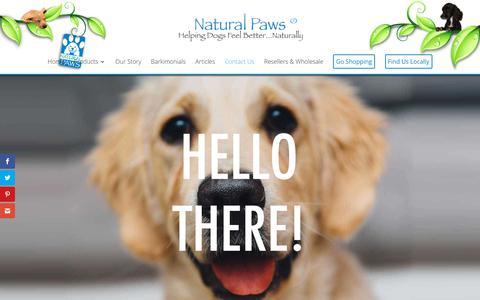 Screenshot of Contact Page naturalpaws.net - Contact Us | Natural Paws - captured Oct. 18, 2018