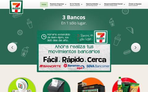 Screenshot of Home Page 7-eleven.com.mx - 7-Eleven México - captured Sept. 18, 2014