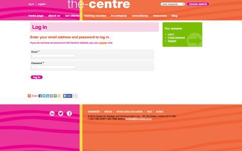 Screenshot of Login Page the-centre.co.uk - Log in   the-centre - captured Nov. 1, 2014