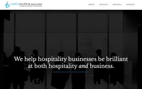Screenshot of Home Page aaronallen.com - Restaurant Consultant, Restaurant Marketing Expert | Aaron Allen - captured Oct. 2, 2018