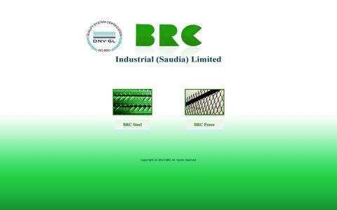 Screenshot of Home Page brc.com.sa - :: BRC :: Industrial (Saudia) Limited - captured Oct. 4, 2014
