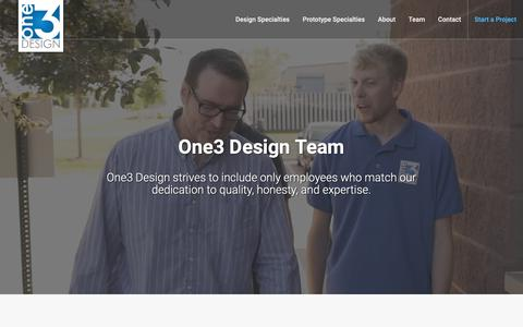 Screenshot of Team Page one3designinc.com - Contact Us | One3 Design - captured Nov. 18, 2018