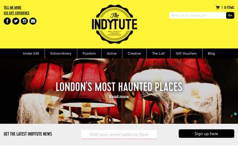 Screenshot of Blog indytute.com - The Indytute Insider - captured Oct. 22, 2017